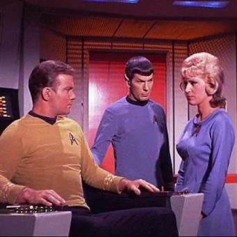 Star Trek: Captain James T Kirk is caught staring at breasts and having dirty thoughts