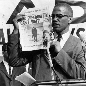 1964: Malcolm X evokes Shakespear as he thrills the Oxford Union with talk of armed rebellion