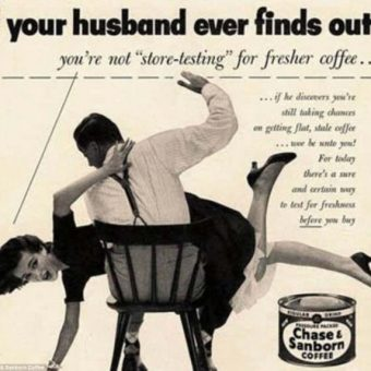 Cruel Men Critisising Their Wives' Coffee In 1950s And 1960s Adverts (And Her Revenge)