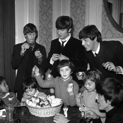 London Beatles with Orphan Children