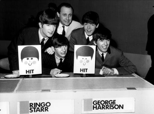 The Beatles and dj David Jacobs