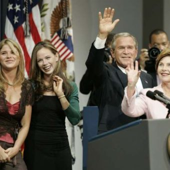 On This Day In Photos: Bush And Cheney Beat Kerry And Cheating Edwards To Win US Election