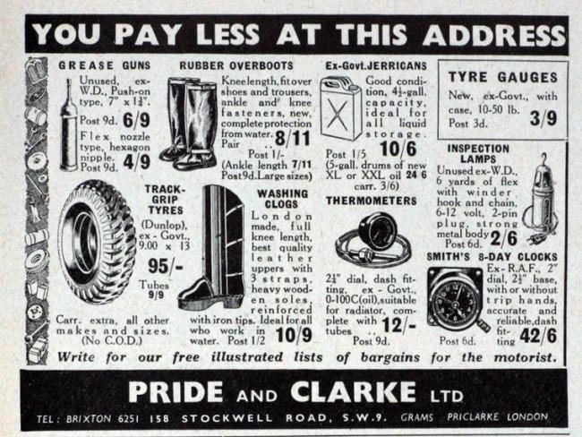 Pride and Clarke advert