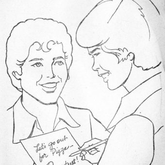 Donny And Marie Osmond Go Cow Milking On Skis – A 1977 Colouring Book