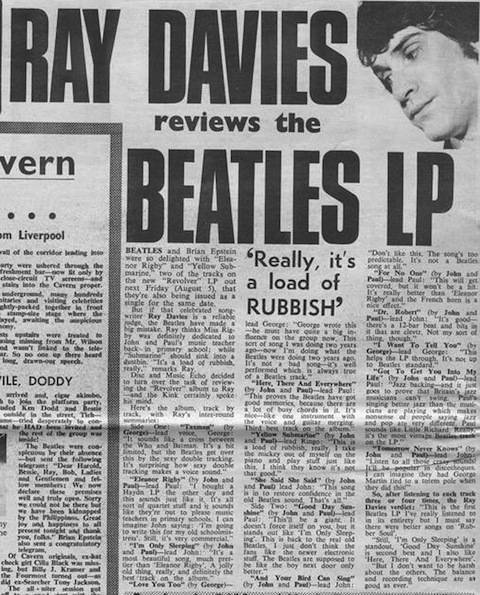 Ray Davies Reviews The Beatles Revolver: 'Really It's A Load