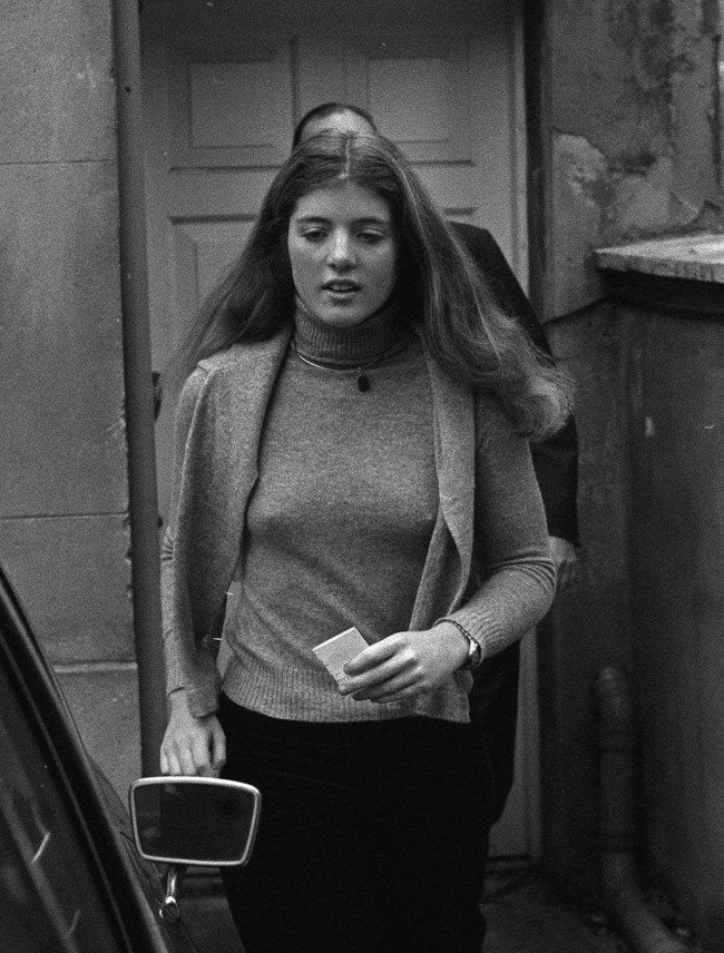 Miss Caroline Kennedy leaves the home of Lord and Lady Harlech, where she stayed overnight, following a bomb blast outside her hosts house when one of Britain's leading cancer research specialists was killed. PA/PA Archive/Press Association Images