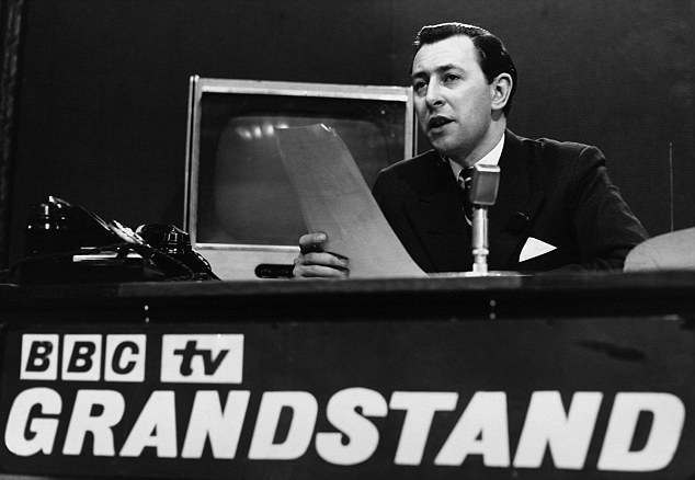Sportscaster David Coleman on BBC Television's