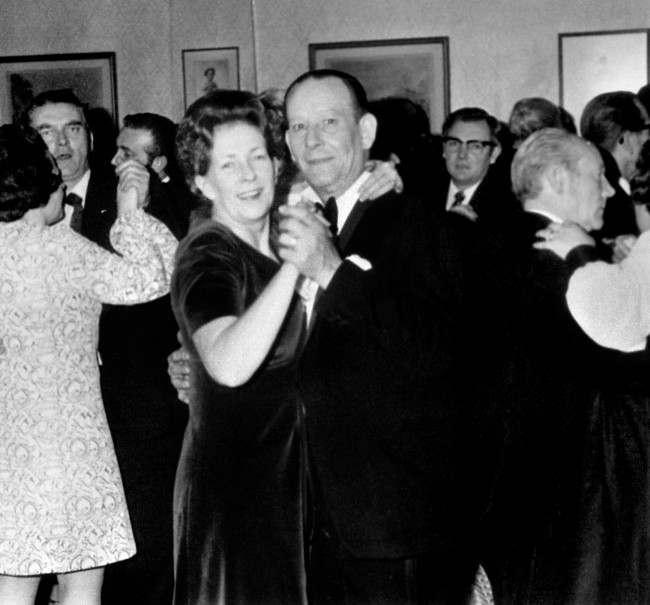 Mr John Matthews and his wife Shelia, aged 53, the couple who are the hostages for the four IRA gunmen holed up in the council flat at 22b Balcombe Street, Marylebone. The couple are pictured at a dance. PA/PA Archive/Press Association Images