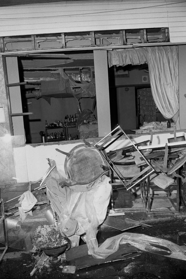 The wreckage in Walton's Restaurant in Chelsea after an IRA bomb which left two people dead and seventeen, five seriously. PA/PA Archive/Press Association Images