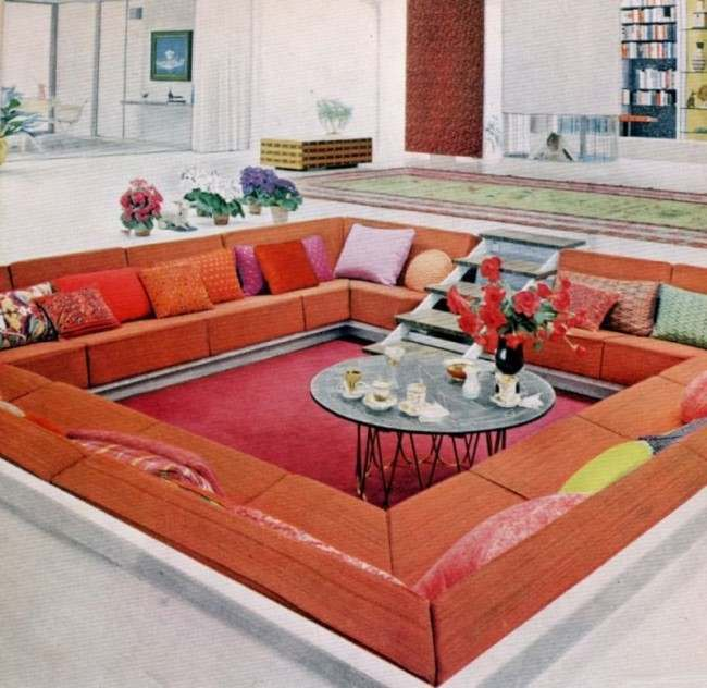 Living Room Routine Steps: A Tour Of Groovy 1970s Sofas