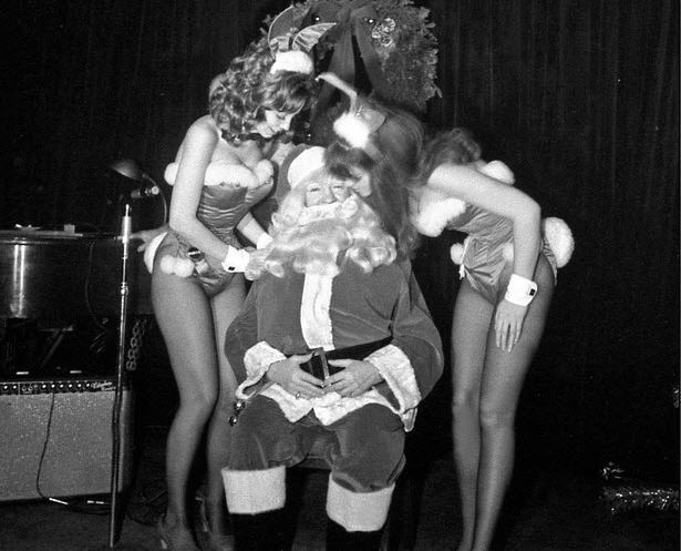 santa and playboy bunnies