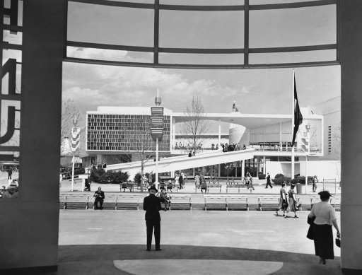 This is a general view of Brazilian building at the New York World's Fair as it was dedicated, May 7, 1939. (AP Photo/John Lindsay)