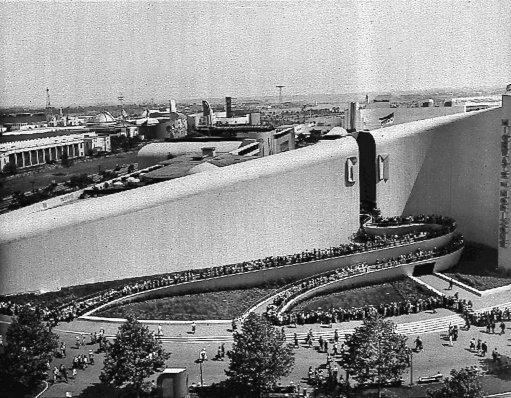 Visitors to the 1939 World's Fair in New York wait in long lines outside the General Motors Futurama exhibit, a ride across the face of America as it might appear in 1960. In the early decades of this century, forecasters had so much material to work with a world that seemed to be tripping over itself with progress, bursting with inventions every day.