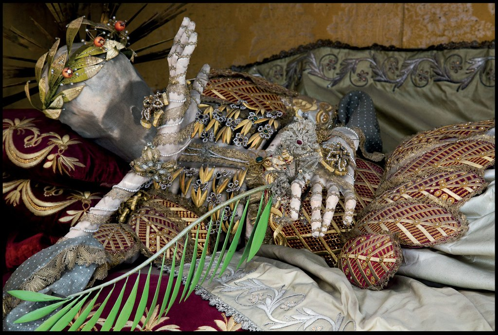 Holy Martyr Jeweled Skeleton photographed by Dr. Paul Koudounaris'
