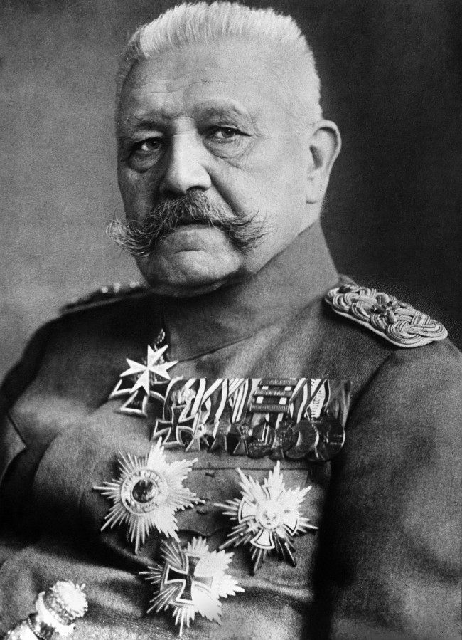 ELDMARSCHALL PAUL VON HINDENBURG c1918: A portrait of Von Hindenburg (1847-1934), German Field Marshal and President (1925-1934). During the First World War he directed German military strategy with the able Ludendorff (1916-1918).
