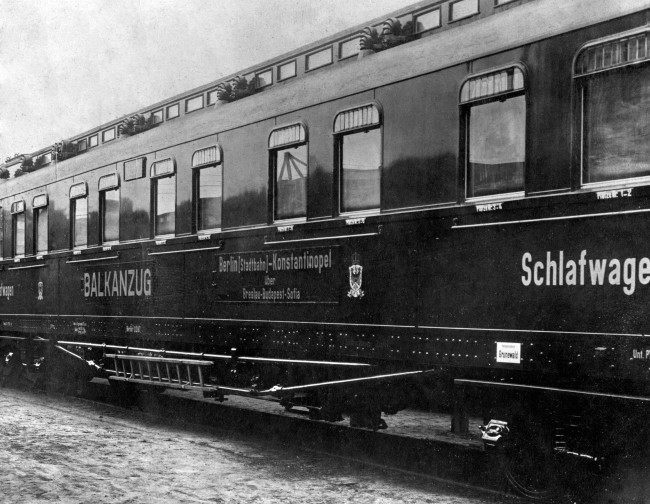 The Balkanzug train, which carried Germans to Sofia and Constantinople, until the Allies took control of the Bulgarian railways in 1918.
