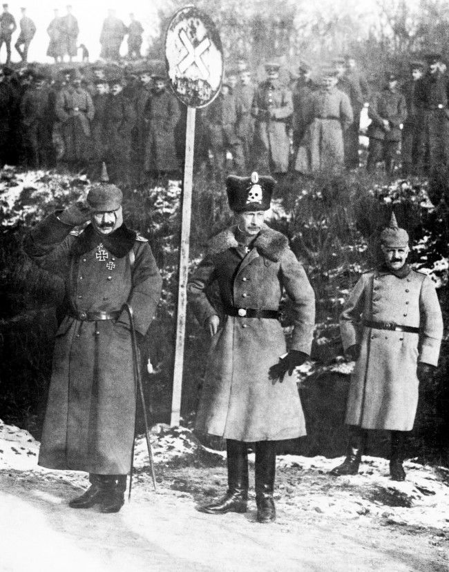 Kaiser Wilhelm II and William, the Crown Prince of Germany, on the Western Front.
