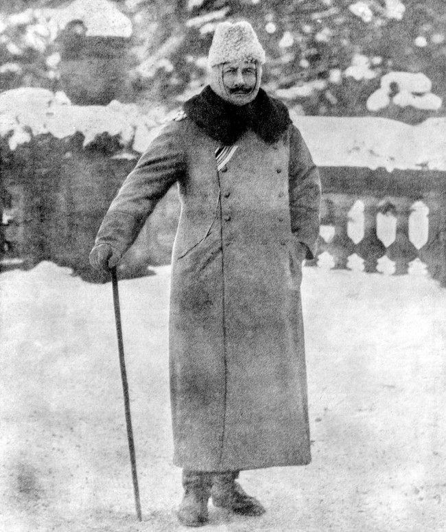 Kaiser Wilhelm II of Germany in an Astrakhan cap.