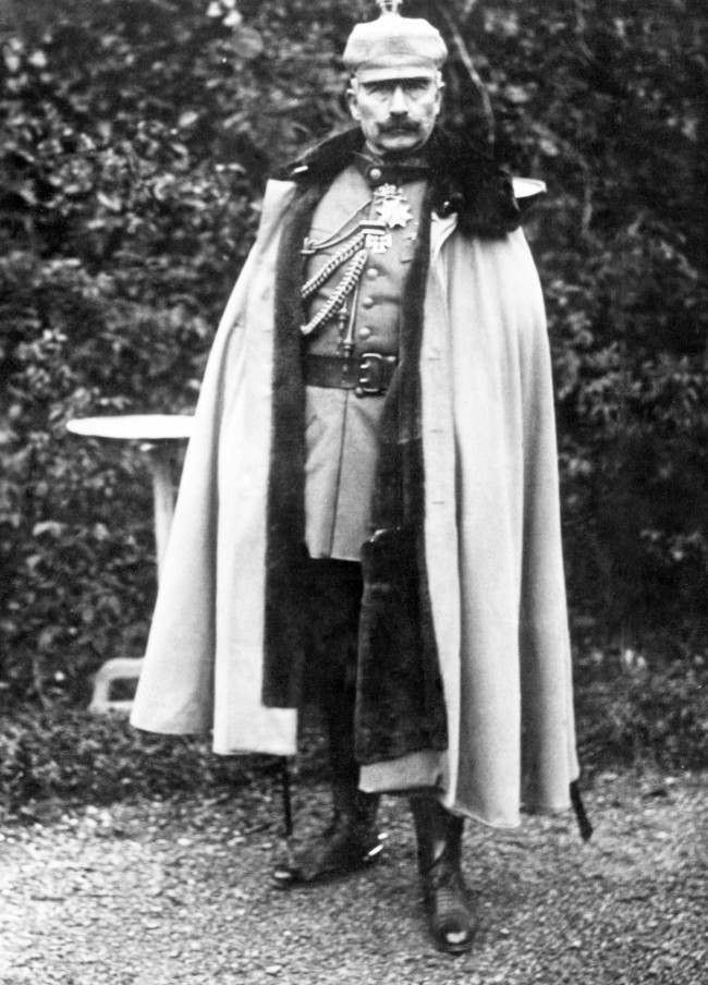 Kaiser Wilhelm II of Germany in full length pose.