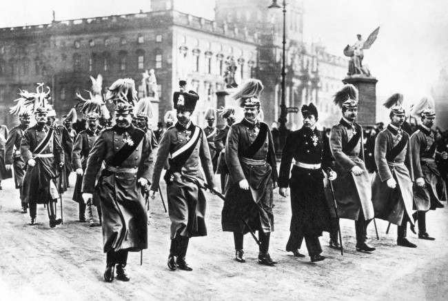 Kaiser Wilhelm II and his six sons.