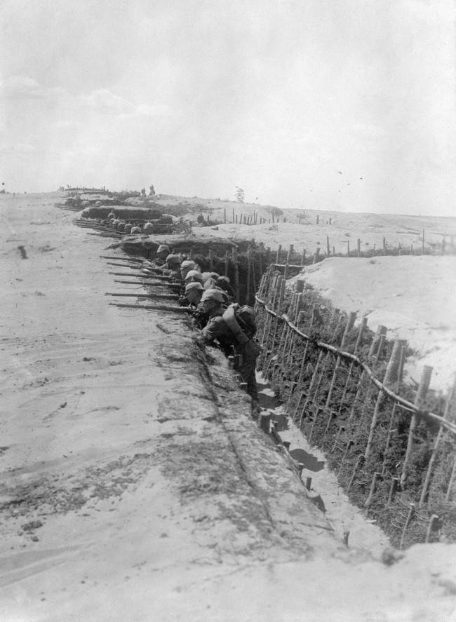 A German trench on the Eastern Front near Ivangorod