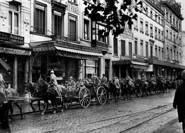 German artillery during the German occupation of Brussells