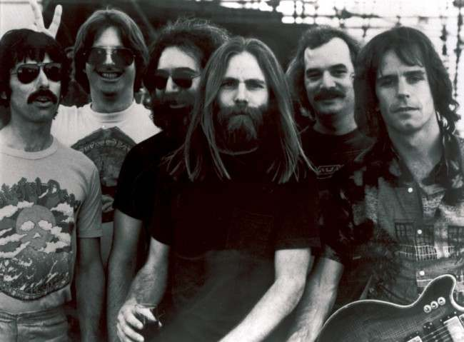 "Members of the Grateful Dead,L-R, Mickey Hart, Phil Lesh, Jerry Garcia, Brent Mydland, Bill Kreutzmann, and Bob Weir. Grateful Dead drummer Mickey Hart says he and other members of the band never really understood the forces that turned them into a 30-year cultural phenomenon. ""It was an alchemical thing,"" Hart said. ""It's for other people to decide our fate in history, our place in the culture."" That is exactly why fans, followers and some of those who were in the inner circle of the Grateful Dead plan to travel to the University of Massachusetts for three days in November. This is no music festival. (AP Photo/File) Date: 04/06/2006"