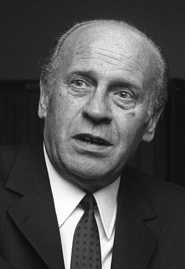 A 1968 black an white file photo shows Oskar Schindler. Schindler during the Nazi era in Germany saved the lives of some 1,200 Jews by declaring them as necessary workers for the production in his factory and putting their names on the 'Schindler List' to prevent them to be sent to the Nazi death camps. In 1967 Schindler was honored as one of the Righteous Among the Nations. Monday, April 28, 2008 sees the 100th birthday of Oskar Schindler, who died in October 1974. (AP Photo/Peter Hillebrecht, File)