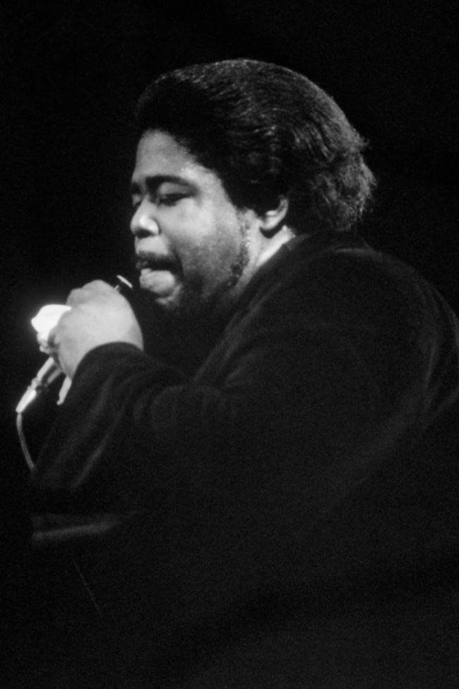 American singer Barry White at his first London concert at the Rainbow Theatre in Finsbury Park, last Friday. Date: 22/02/1974
