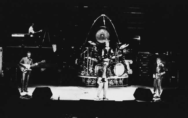 The Who, on its farewell tour of the United States, performs its final Phoenix-area concert at Sun Devil Stadium in Tempe, Ariz., Sunday, Nov. 1, 1982.