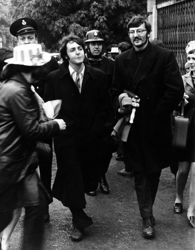 Flashback Photo 1968 Beatle Paul McCartney Watches The FA Cup Final