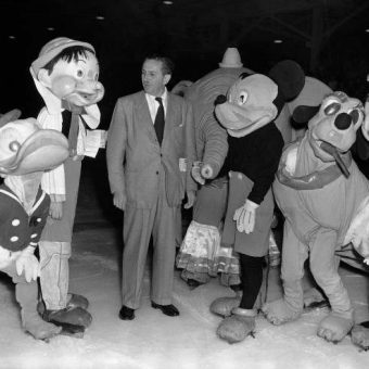 Wonderful Photo Of Walt Disney Meeting His Nightmarish Creations In Los Angeles