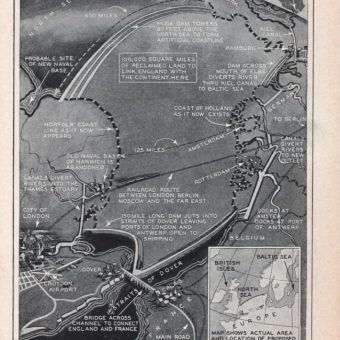 1930: The Plan To Drain And Dam The North Sea And Create DOGGERLAND