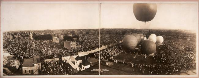 International ballooning contest, Aero Park, Chicago, July 4, 1908.