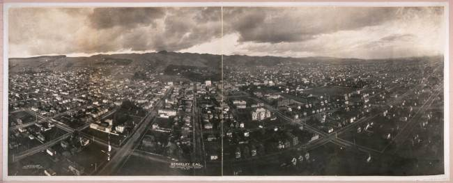Berkeley, Calif., looking east, from 1,000 feet elevation, 1908.