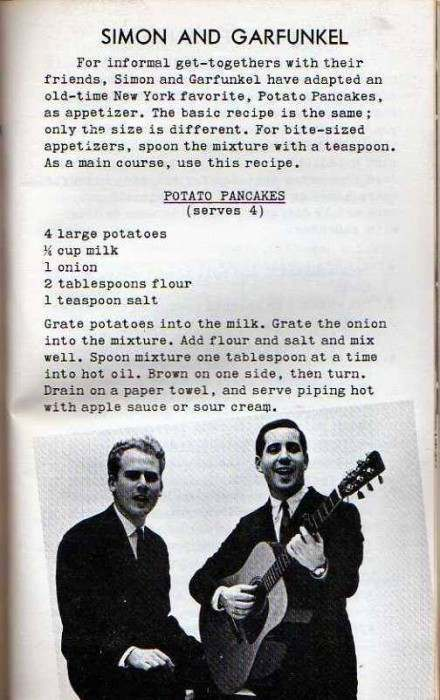 singers and swingers in the kitchen simon and garfunkel
