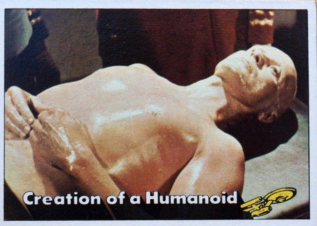 1976 Topps Star Trek #75 Creation of a Humanoid