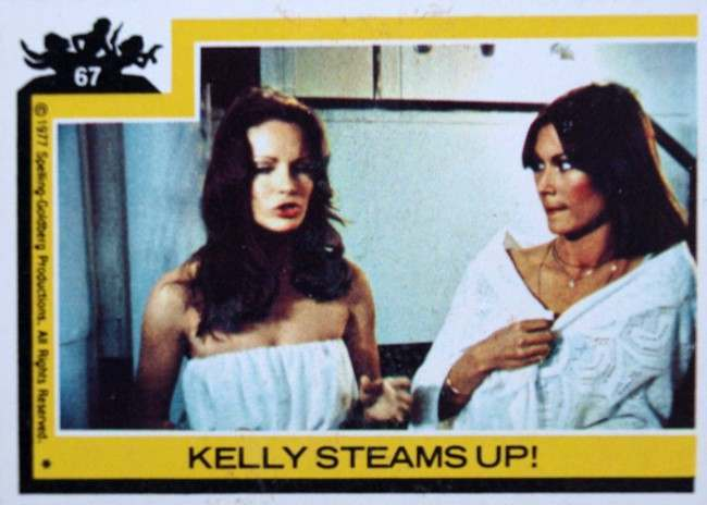 CHARLIE'S ANGELS TRADING CARD g 1977