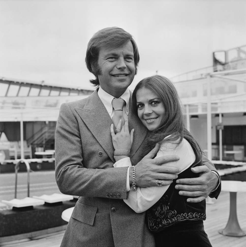 American actor Robert Wagner with his former wife American actress Natalie Wood, 23rd April 1972. (Photo by Chris Wood/Daily Express/Hulton Archive/Getty Images)
