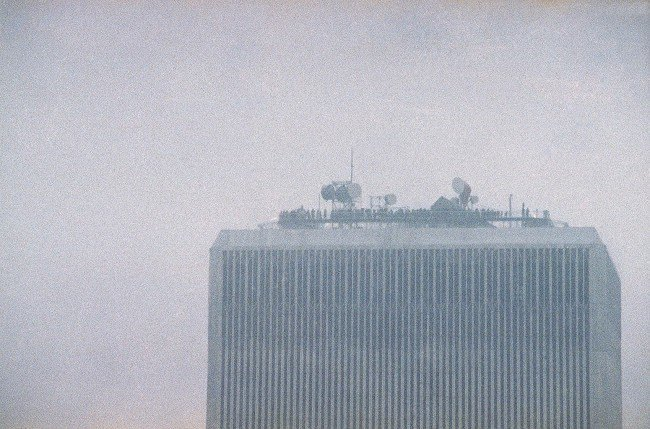 People line the observation deck of the World Trade Center in New York, Feb. 26, 1993,