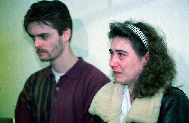 Denise Bulger, mother of James Bulger the 2-year-old boy who went missing in the bootle area of Liverpool, breaks down at a police press conference in Liverpool. Date: 13/02/1993