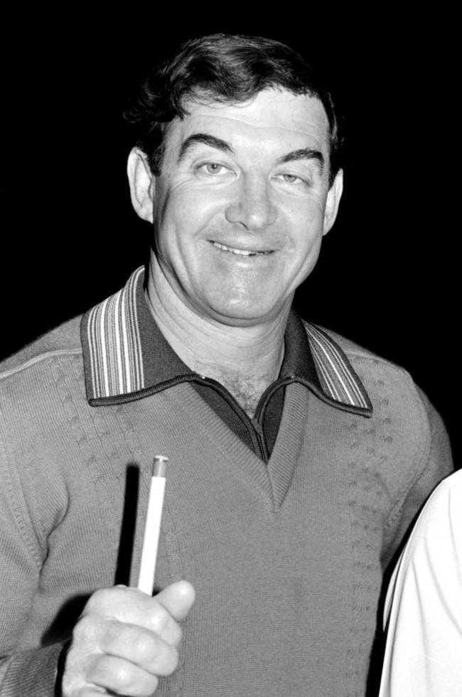 Eddie Charlton, the undisputed king of Australian snooker for many years. Acclaimed as having the smoothest cue action in the sport, he has contested the worlds major tournaments.