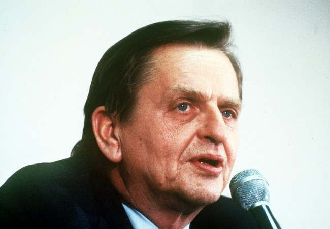 Olof Palme, Special U.N. envoy to the Middle East; leader of Sweden's Social Democratic Party. (AP-Photo) 1980