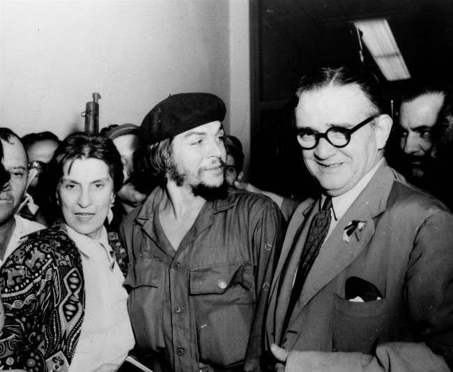 "Ernesto ""Che"" Guevara is flanked by his parents on their arrival at airport in Havana, Cuba in 1959. Guevara was reported to have been killed by Bolivian troops October 8, 1967."