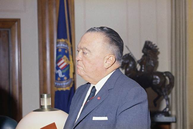 J. Edgar Hoover, director of the Federal Bureau of Investigation (FBI), is honored at ceremony when he received an award on Oct. 3, 1966 in Boston