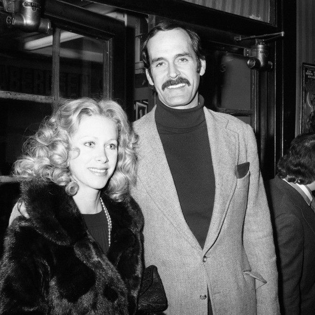 Theatre - 'Harvey' Opening Night - Prince of Wales Theatre - London - 1975 John Cleese and his wife Connie Booth. Date: 09/04/1975