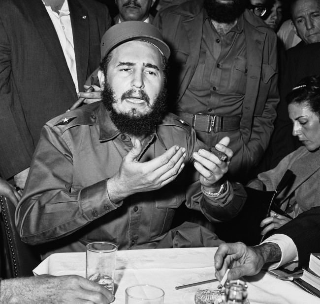 Fidel Castro, hero of the Cuban revolt, runs a gamut of emotion as he speaks to a crowd during his triumphal march to Havana following the fall of the Batista government on Jan. 30, 1959. Huge crowds greeted the rebel leader all along the route. The reception was a contrast to his college days in Havana when he was regarded largely as a country bumpkin. But while Castro failed to attain the campus political goals he sought, he was a determined orator even then and wasn''t without a following.