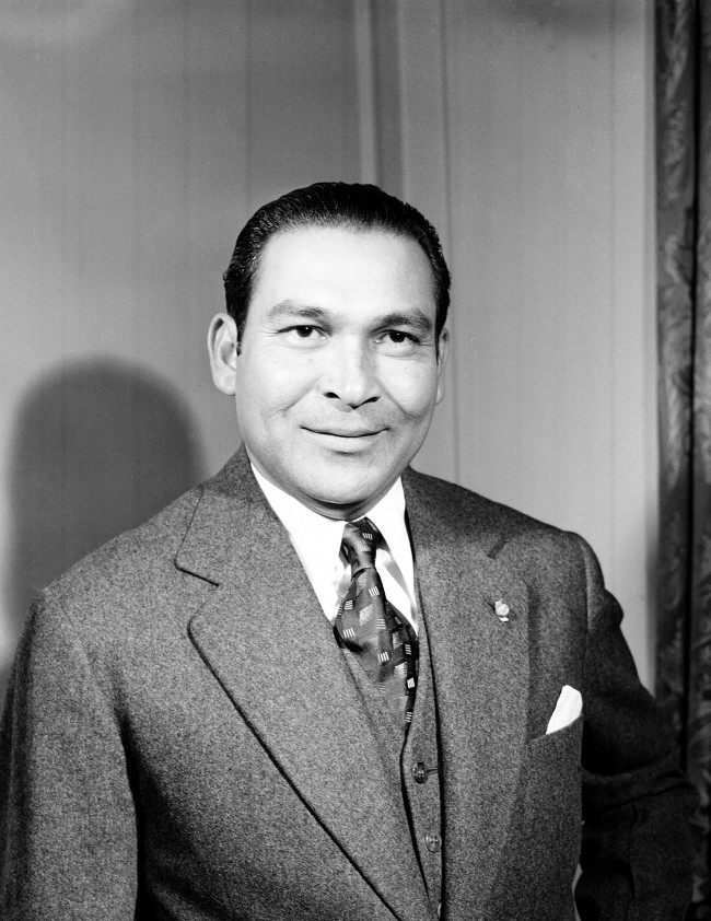 Fulgencio Batista, who was President of Cuba from 1940-1944, is seen while visiting the United States, in San Francisco, Calif., on March 17, 1945.