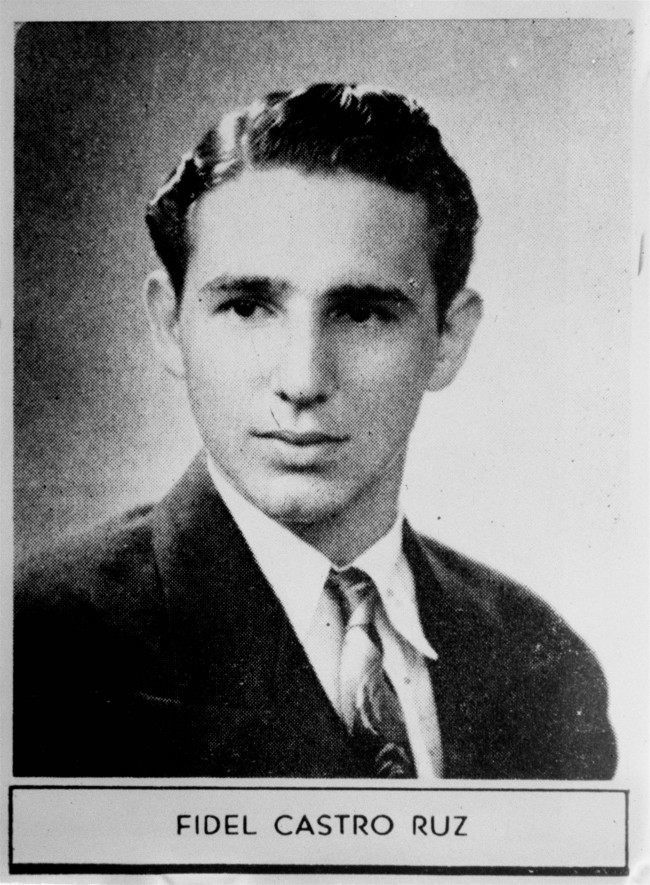 Fidel Castro in his 1945 year book