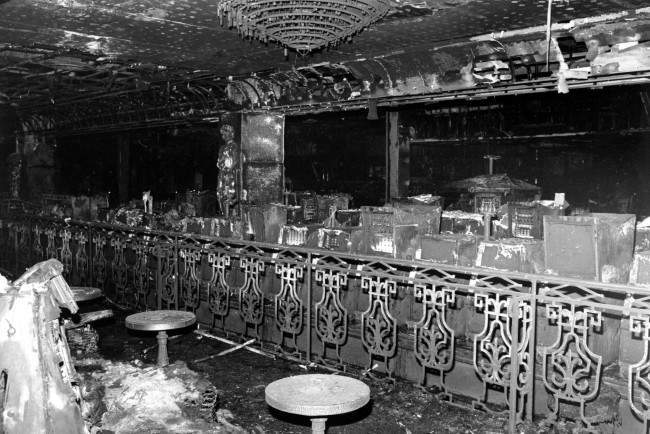 This photograph shows a portion of the burned interior of the casino floor at the MGM Grand Hotel Casino in Las Vegas, Nv. on Nov. 22, 1980. The fire, started by an electrical short, swept through the casino to the main entrance of the hotel Friday, Nov. 21, killing 83 people and injuring hundreds of others.